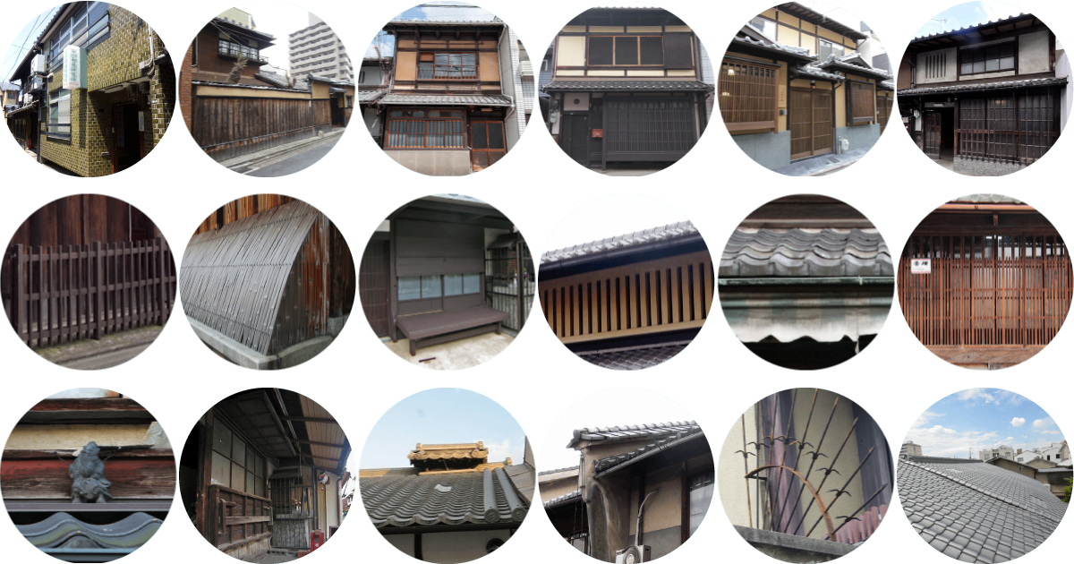 Exterior Features Traditional Kyoto Machiya Houses For